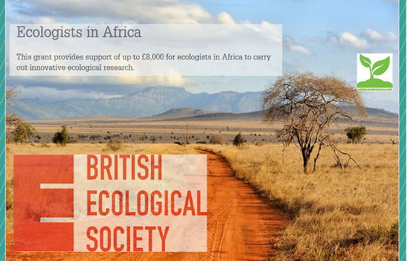 British Ecological Society (BES) Ecologists in Africa Grant 2018 (Up to £8,000)