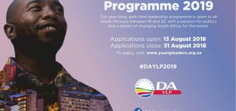 Democratic Alliance (DA) Young Leaders Programme 2019 for South Africans (Funded)