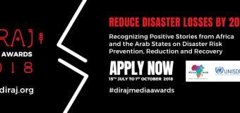 Disaster Risk Reduction Network of Africa Journalists (DIRAJ) Media Awards 2018