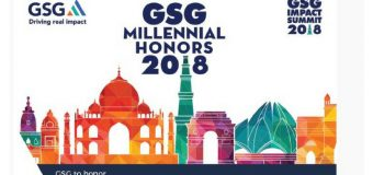 GSG Millennial Honors Award 2018 for Impact Entrepreneurs (Fully-funded to GSG Impact Summit in India)