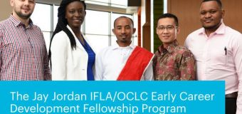 Jay Jordan IFLA/OCLC Early Career Development Fellowship Program 2019 (Fully-funded to the US)