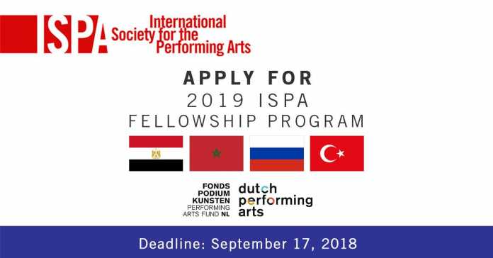 International Society for the Performing Arts (ISPA) Netherlands Fellowship Program 2019