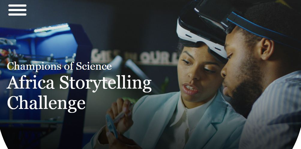 Johnson & Johnson Champions of Science Africa Storytelling Challenge 2018 ($5,000 USD prize)