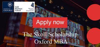 Skoll Scholarship to study at University of Oxford's Saïd Business School 2020/21 (Fully-funded)