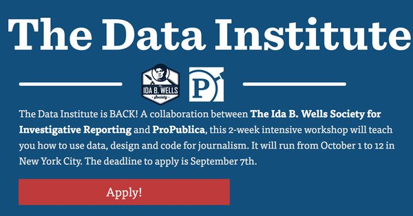 Data Institute 2018 Intensive Workshop in New York City (Funded)