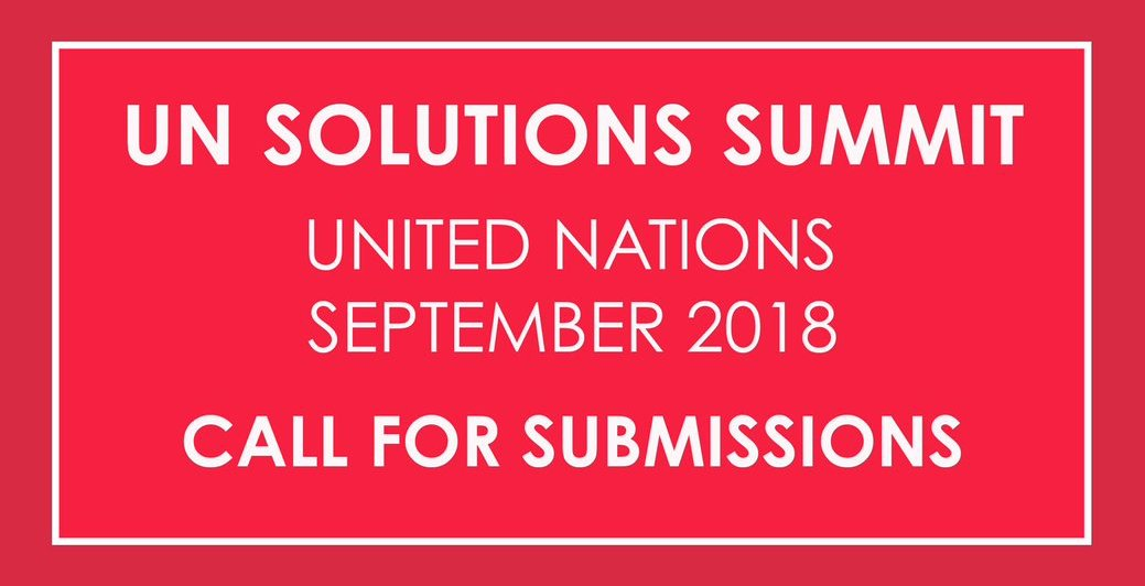 Apply for the UN Solutions Summit 2018 at the UN Headquarters in New York