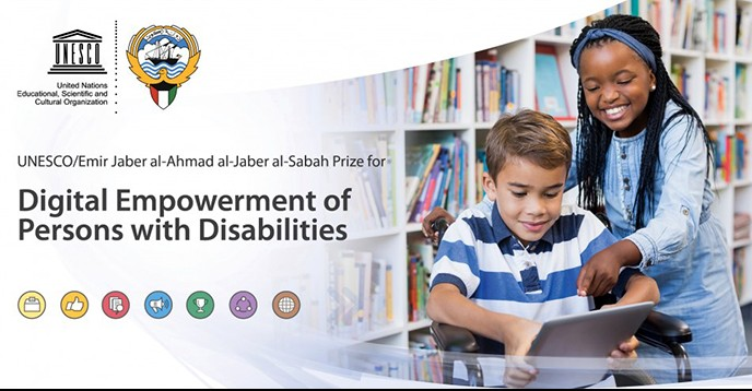 UNESCO/Emir Jaber al-Ahmad al-Jaber al-Sabah Prize 2018/2019 for Digital Empowerment of Persons with Disabilities (Up to $40,000)