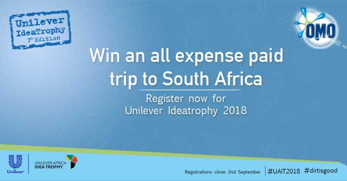 Unilever Africa Idea Trophy Competition 2018 for Students (Win an all expense paid trip to South Africa)