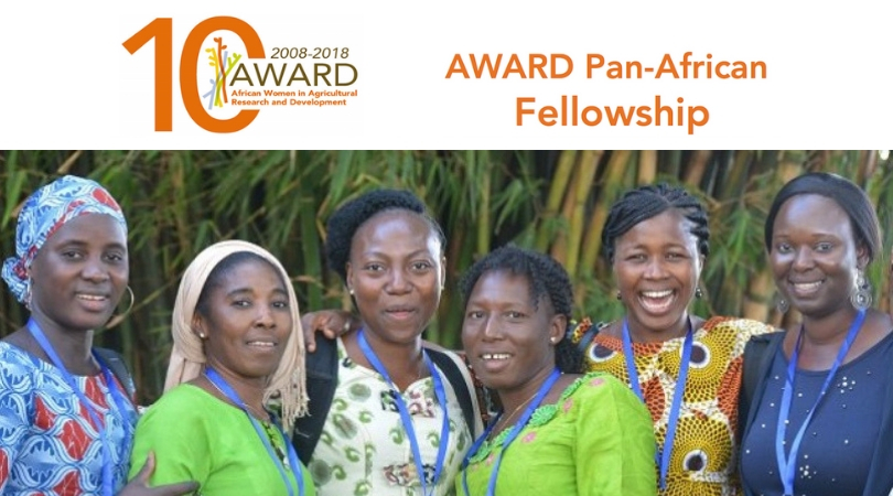 AWARD Pan African Fellowship Program 2019 for Women Scientists (Fully-funded)