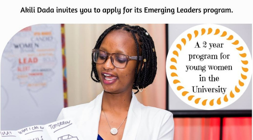 Akili Dada Emerging Leaders Program 2018 for Young Women in Kenyan Universities