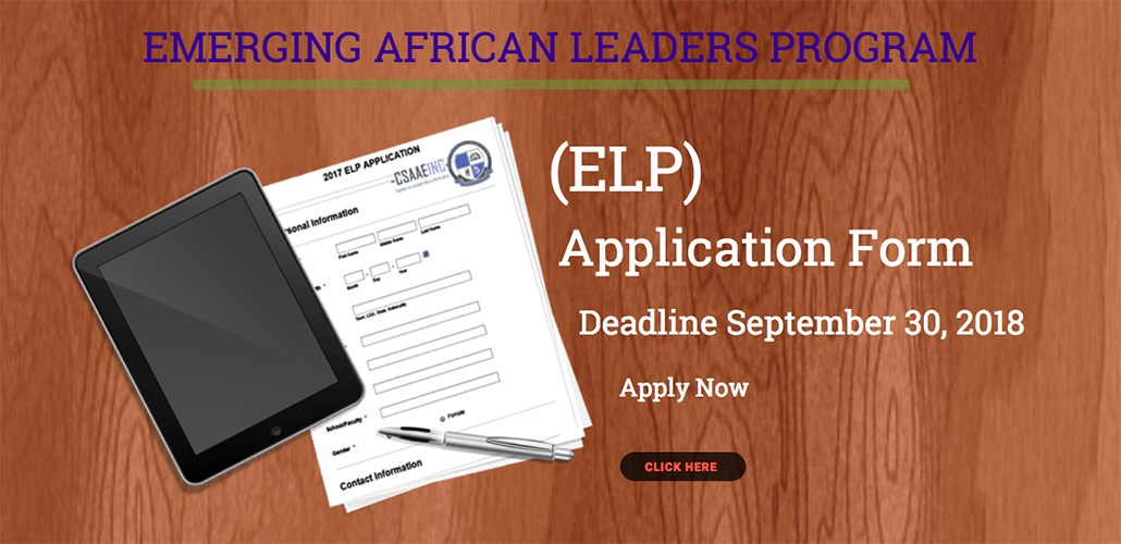 CSAAEINC Emerging African Leaders Program 2018 for Nigerian Undergraduate Students (Fully Funded)