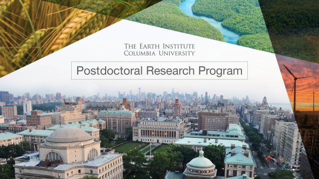 Earth Institute Postdoctoral Research Program in Sustainable Development 2019 at Columbia University