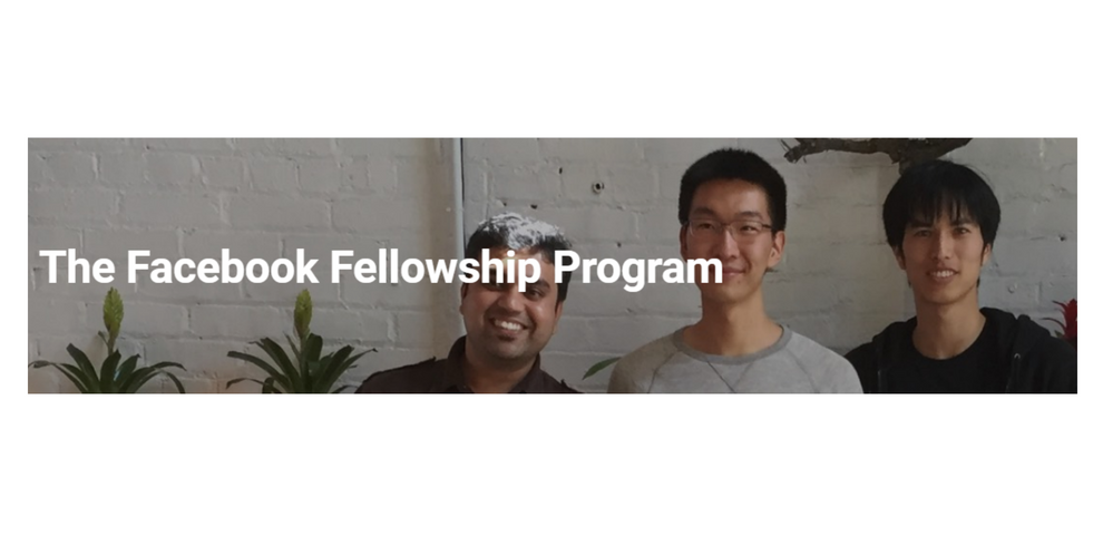 Facebook Research Fellowship Program for PhD Students 2019 (up to $37,000)