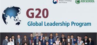 KDI School's G20 Global Leadership Program 2018 (Fully-funded to Korea)