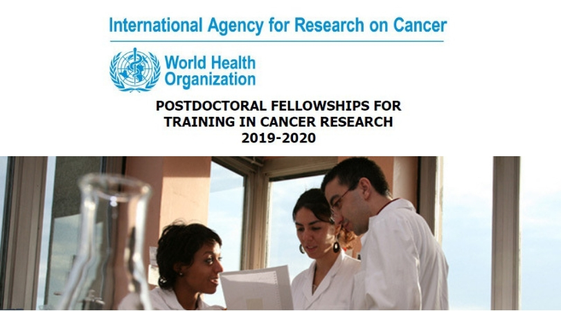IARC Postdoctoral Fellowships for Cancer Research 2019-2020