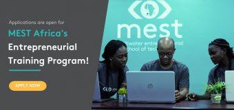 MEST Africa Entrepreneurial Training Program 2019 for Pan-African Tech Entrepreneurs (fully sponsored)