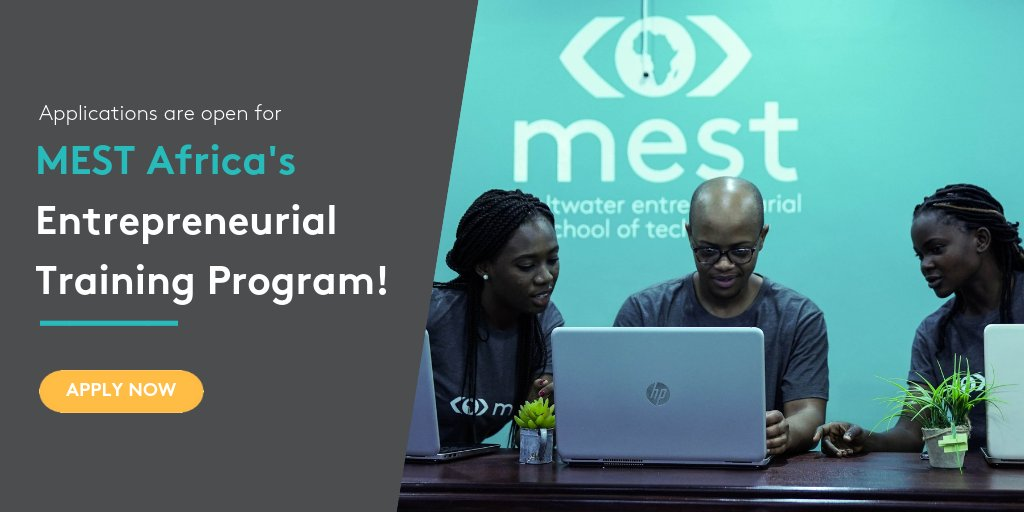 MEST Africa Entrepreneurial Training Program 2019 for Pan-African Tech Entrepreneurs (fully sponsored)