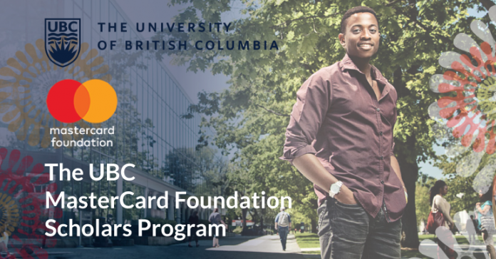 Mastercard Foundation Scholars Program 2020/2021 at the University of British Columbia (Fully-funded)