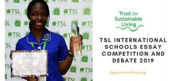 TSL International Schools Essay Competition and Debate 2019