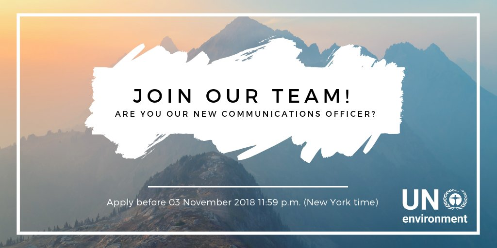 United Nations Environment Programme is recruiting a Communications Officer in Nairobi