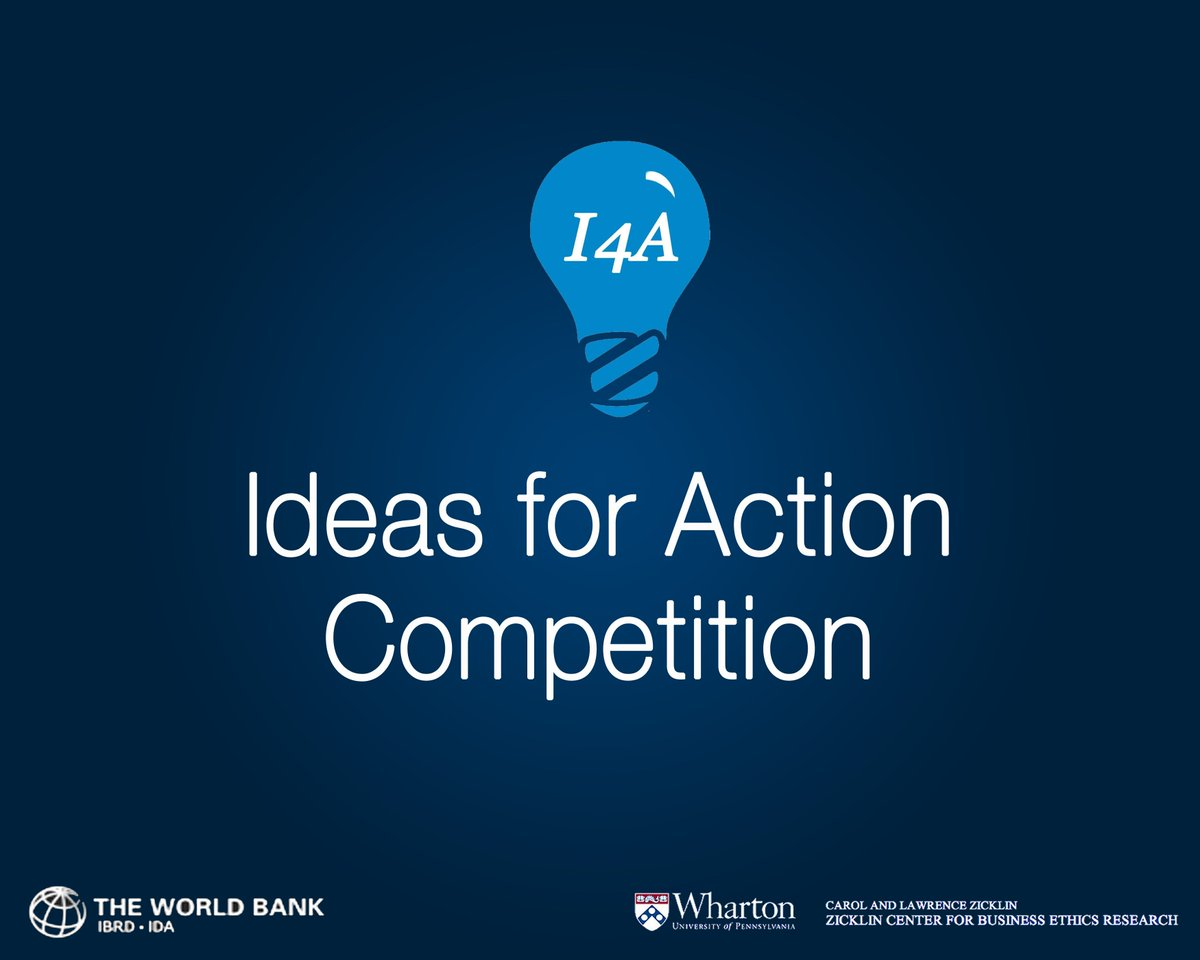 World Bank Group/Wharton School Ideas for Action Competition 2019