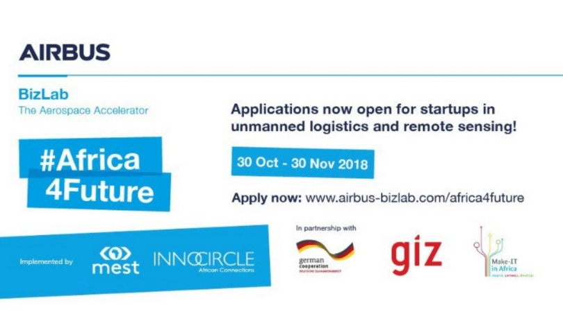 Airbus BizLab Africa4Future Business Accelerator 2019 for African Startups (Fully-funded)