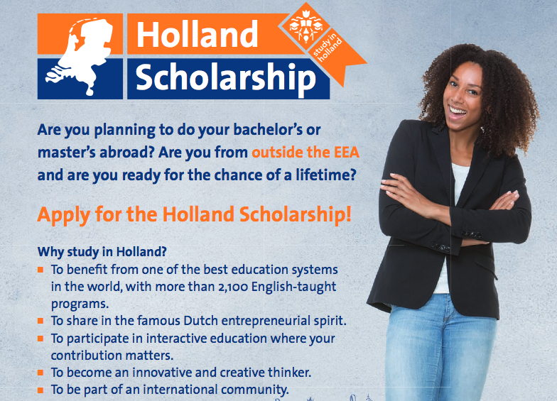 Holland Scholarship 2020/2021 for Bachelor's or Master's ...