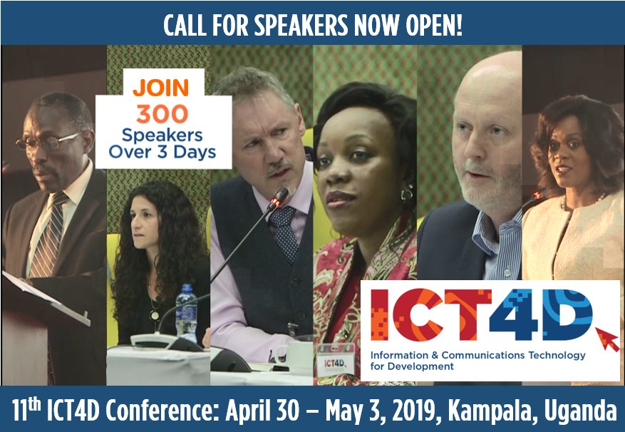 Call for Speakers: 11th ICT4D Conference 2019 in Kampala, Uganda (Scholarships Available)