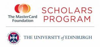 Mastercard Foundation Scholars Program 2020/2021 at the University of Edinburgh (Fully-funded)