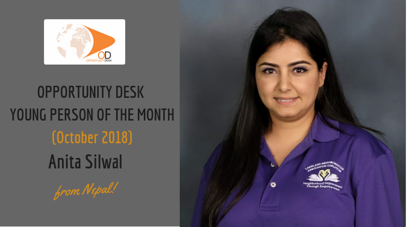 Anita Silwal from Nepal is OD Young Person of the Month for October 2018!