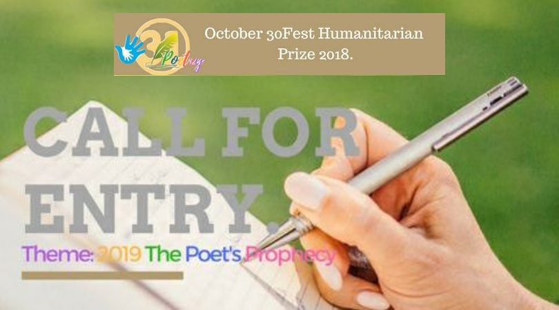 Call for Submissions: October 30Fest Humanitarian Poetry Prize 2018