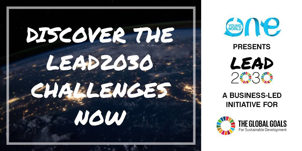 One Young World Lead2030 Challenges 2019 (Win up to $50,000 in funding)
