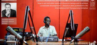 UNDP/UNESCO IATI Research Challenge for Journalists 2018