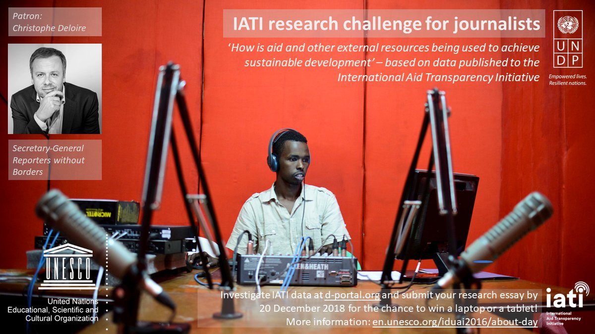 UNDP/UNESCO IATI Research Challenge for Journalists 2018