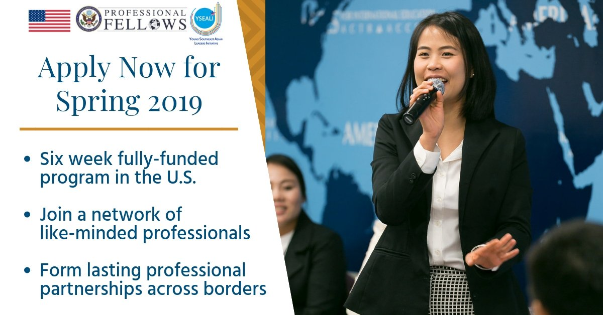 US Department of State's Professional Fellows Program – Spring 2019 (Fully-funded)