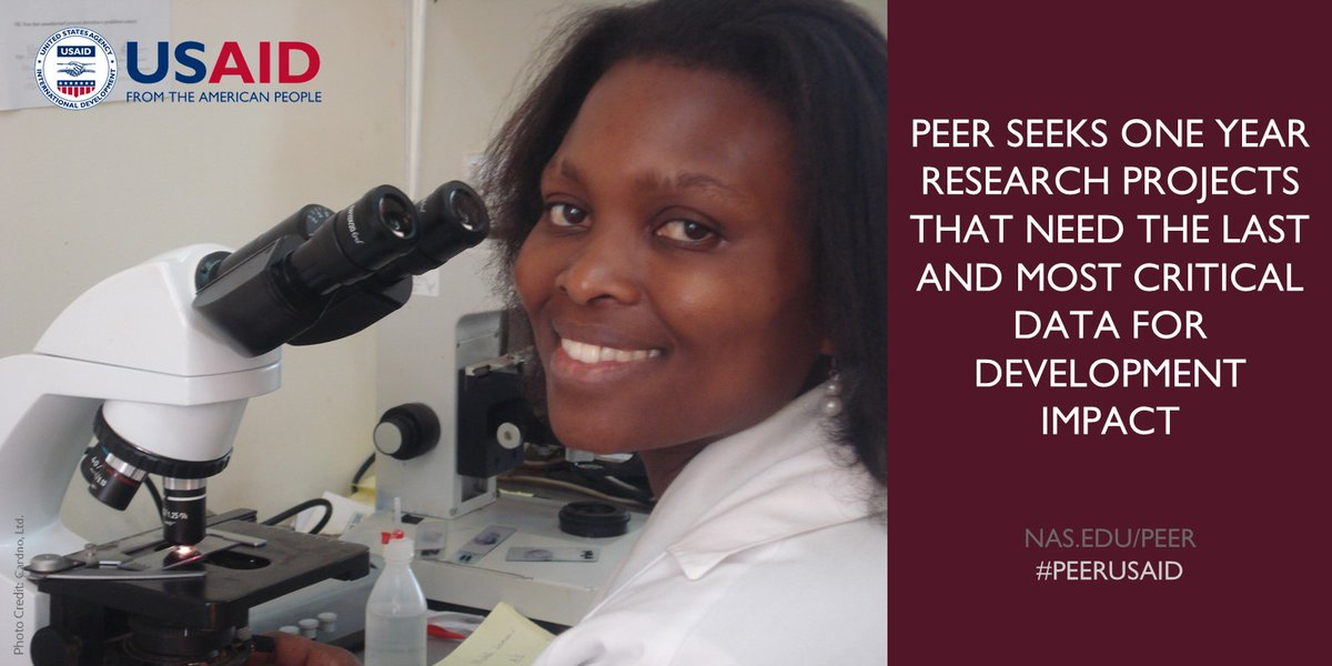 Call for Pre-proposals: USAID PEER Program Cycle 8 for Scientists in Developing Countries (Up to $80,000)