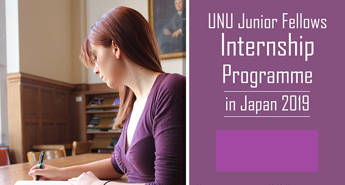 United Nations University Junior Fellows Internship Program at the Office of the Rector 2019
