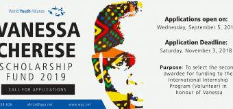 World Youth Alliance Vanessa Cherese Scholarship 2019
