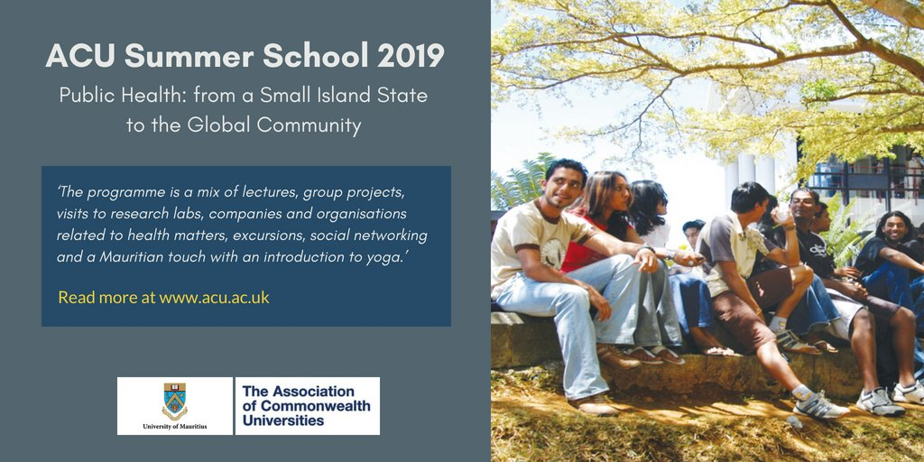 Association of Commonwealth Universities (ACU) Summer School 2019 (Bursaries Available)