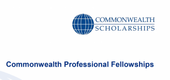 Commonwealth Professional Fellowships for mid-career professionals 2018/2019 (Fully-funded to the UK)