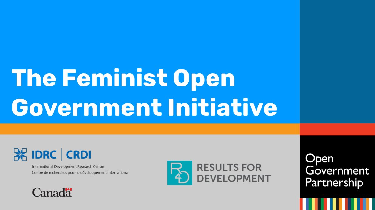 Call for Proposals: Feminist Open Government Initiative 2019/2020 (Up to CA$50,000)