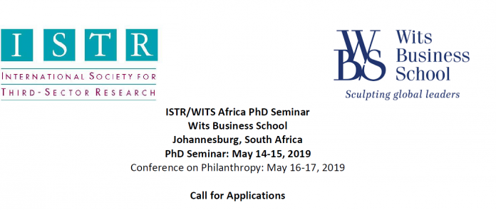 ISTR/WITS Africa PhD Seminar at Wits Business School 2019