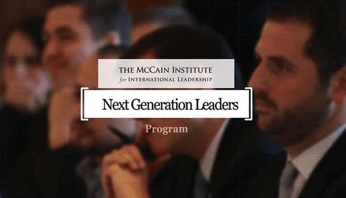 McCain Institute Next Generation Leaders Program 2019/2020 (Fully-funded)