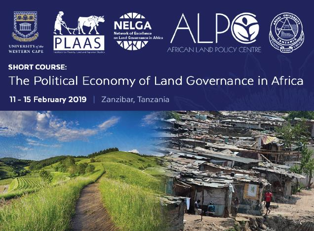 NELGA Short Course Training on Political Economy of Land Governance in Africa 2019 (Funded)