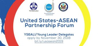 United States-ASEAN Partnership Forum Young Leader Delegate Program 2019 (Funded)