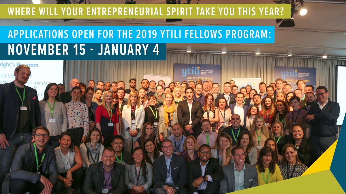 Young Transatlantic Innovation Leaders Initiative Fellowship Program 2019 for Europeans (Fully-funded to USA)