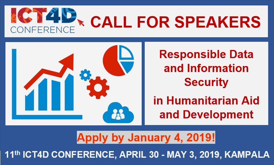 Apply to Speak on Responsible Data and Information Security at the 11th ICT4D Conference 2019 (Scholarships Available)