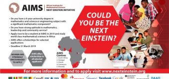 AIMS Master's Degree Programs in Mathematical Sciences 2019/20 (Fully-funded to Study in Africa)