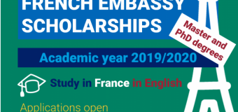 Embassy of France in South Africa Master Scholarship Program 2019-2020