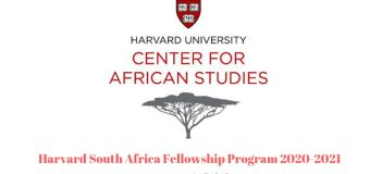 Harvard South Africa Fellowship Program 2020-2021 (Fully-funded)